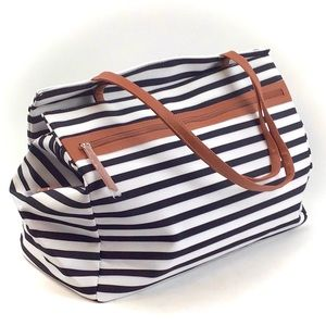 DSW Camuto Striped Overnighter